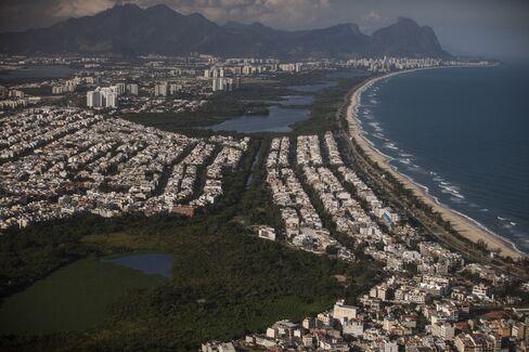 Aerial Views Of Rio de Janeiro As Brazilian Stocks Post World's Worst Drop