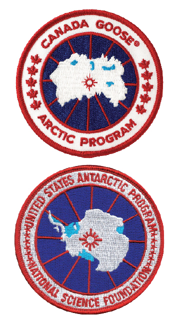 Bottom: Actual polar explorer patch. Top: Not so much.