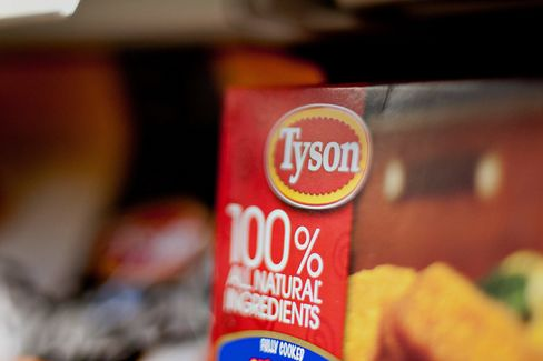 Tyson Foods products sit in the freezer section of a supermarket in Princeton, Ill., on Jan. 30, 2013.