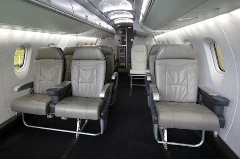 Are you sitting comfortably? Passenger seating for the Mitsubishi Regional Jet.