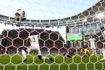 Keisuke Honda of Japan scores his team's second goal during the 2018 FIFA World Cup Russia group H match between Japan and Senegal.