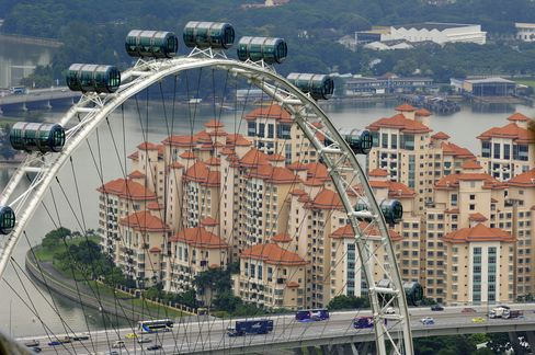 Singapore Home Price Gains Slow Most in Three Quarters on Curbs