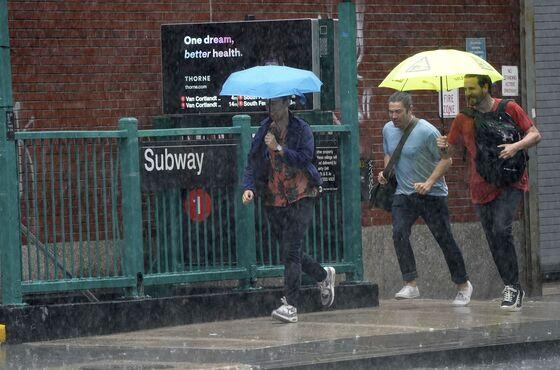 Storm Elsa Brings Flooding Rain to New York, Snarls Traffic