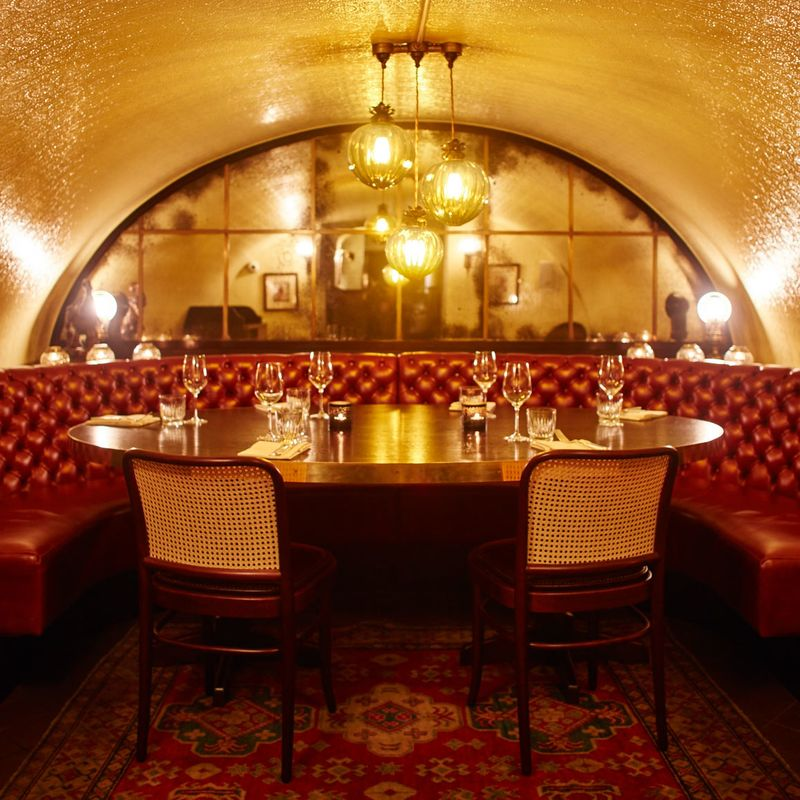 One Of The Two Private Dining Vaults At Gymkhana.