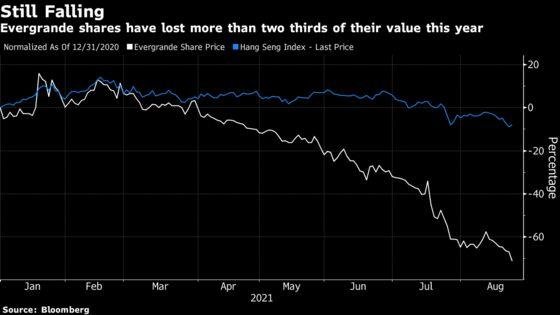 Evergrande Shareholder Exodus Quickens as EV Unit Drops 27%