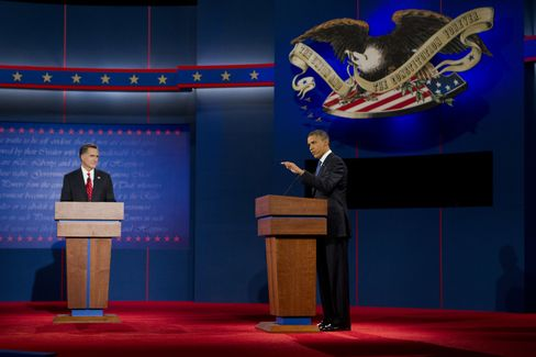Romney in Debate Says Obama Favors 'Trickle-Down Government'