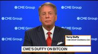 relates to CME Group CEO Duffy on Volatility, Data Expansion and Bitcoin