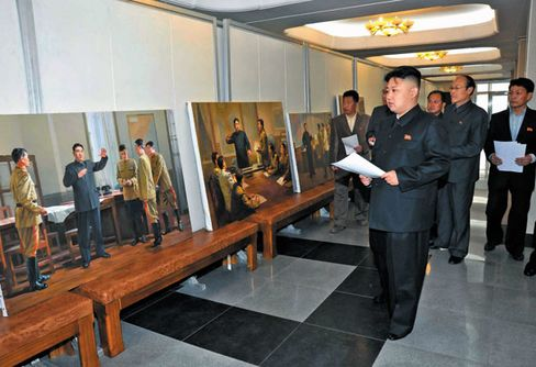 Only Mansudae Art Studio's artists are sanctioned to portray the Kim dynasty