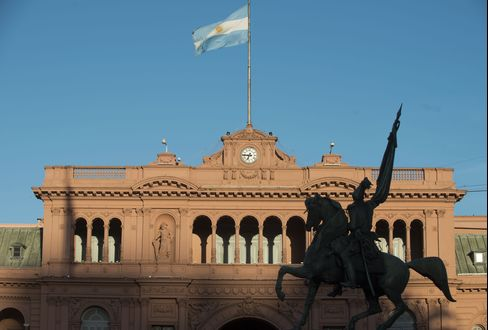 The Government Palace Stands in Buenos Aires