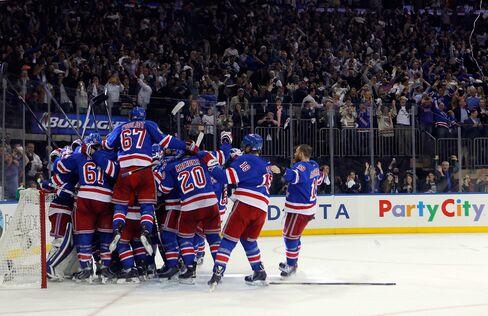 The New York Rangers Celebrate