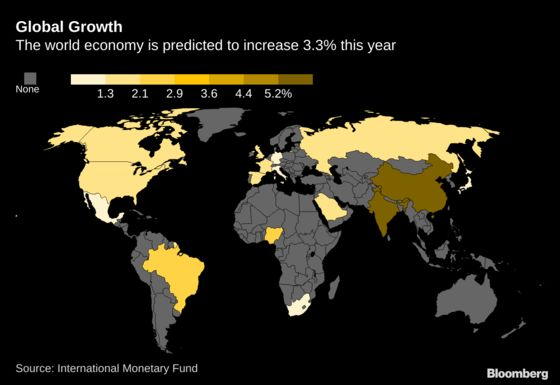 IMF Trims Global Economic Outlook, But Tones Down Risk Warnings