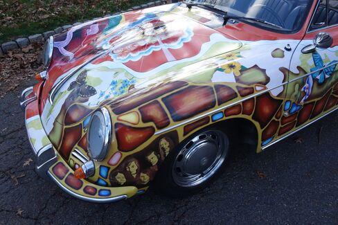 The original paint work by artist Dave Richards, a friend of Joplin's, has beenrestored.