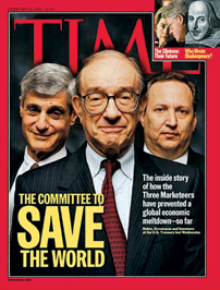 With Greenspan and Summers on the cover of ???Time??? in February 1999