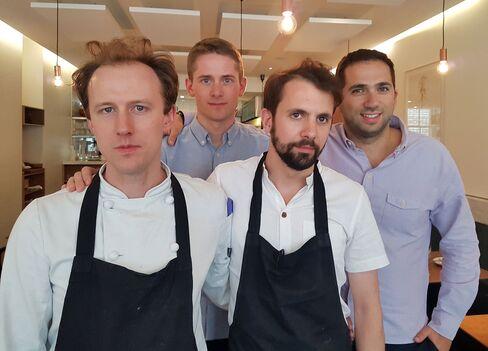 The Portland team from left, Stuart Andrew, Will Lander, Merlin Labron-Johnson and Daniel Morgenthau.