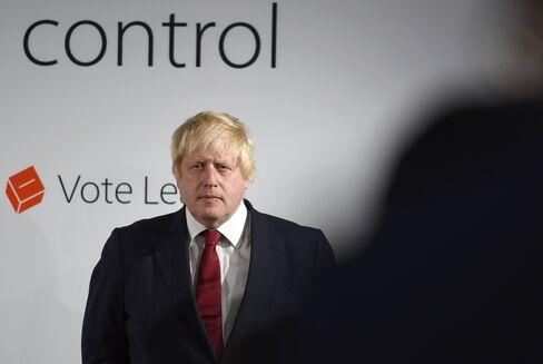 Boris Johnson at the Vote Leave headquarters on Friday, June 24.