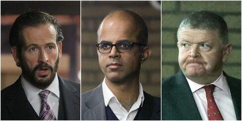 Jason Edinburgh, left, Assad Amin, center, and Vincent Walsh