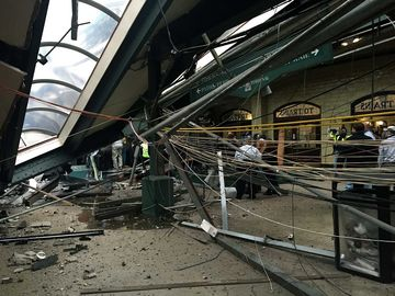 HOBOKEN, NJ - SEPTEMBER 29:  after a NJ Transit train crashed in to the platform at the Hoboken Terminal September 29, 2016 in Hoboken, New Jersey. (Photo by Pancho Bernasconi/Getty Images)