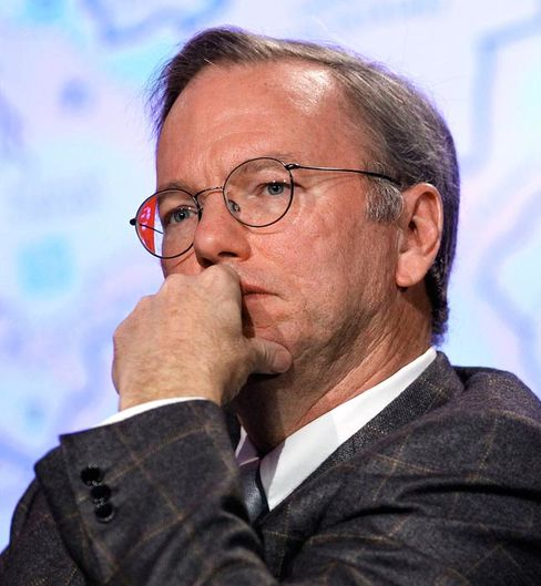 Eric Schmidt, chief executive officer of Google Inc.