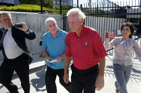 William Walters leaves the federal court house in Las Vegas, May 19.