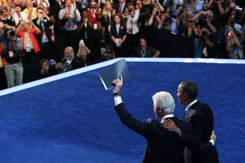 Bill Clinton Takes Charlotte