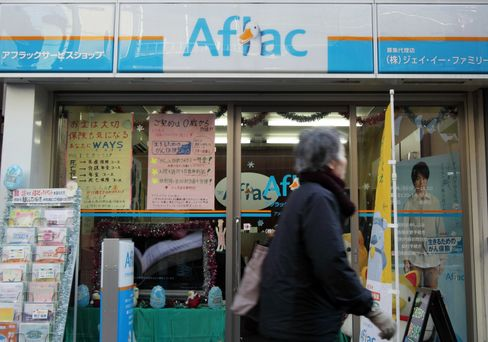 Aflac Falls as Yen Weighs on 2013 Profit Forecast