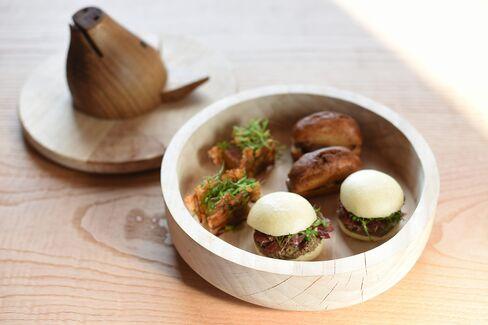 Eneko's Txerri Boda Pork Festival dish.