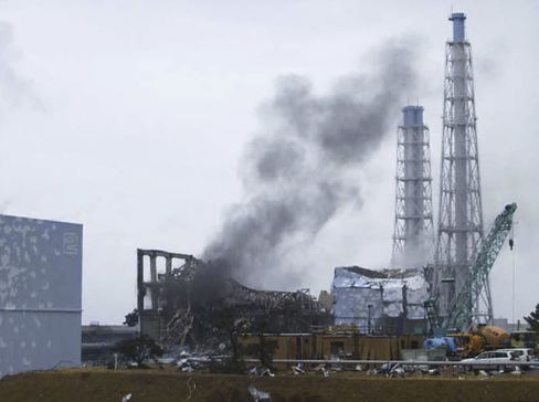 Smoke Rises From the No. 3 Reactor