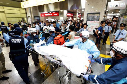 Bullet Train fire in Japan