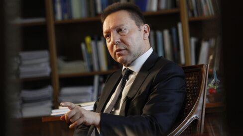 Greek Finance Minister Yannis Stournaras