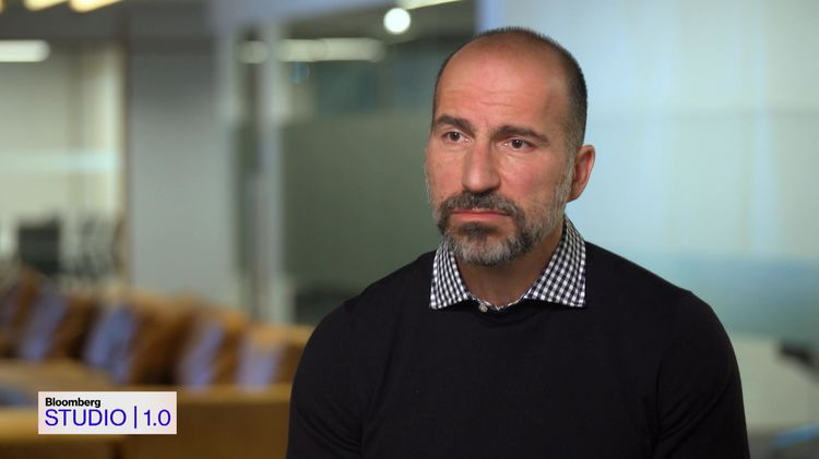 relates to Uber CEO Dara Khosrowshahi on 'Bloomberg Studio 1.0'