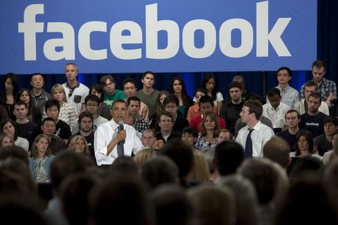 Obama, at Facebook, Says U.S. Finances Unsustainable