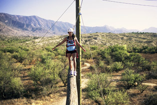 The ropes course at Miraval Arizona Resort & Spa