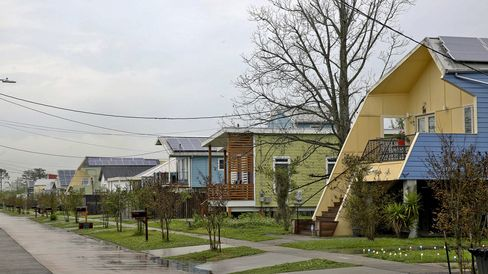 Homes in the Lower Ninth Ward built by the Make It Right Foundation
