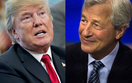 Jamie Dimon Sounds Like a Trump Buddy a Month After Their Taunts