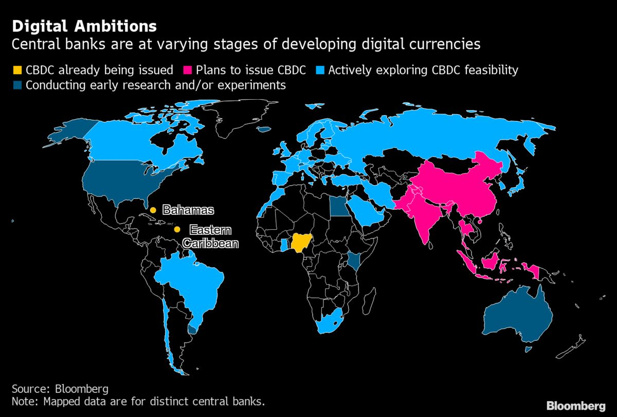 bloomberg.com - Carolynn Look - Central Banks Are Getting Serious About Digital Money