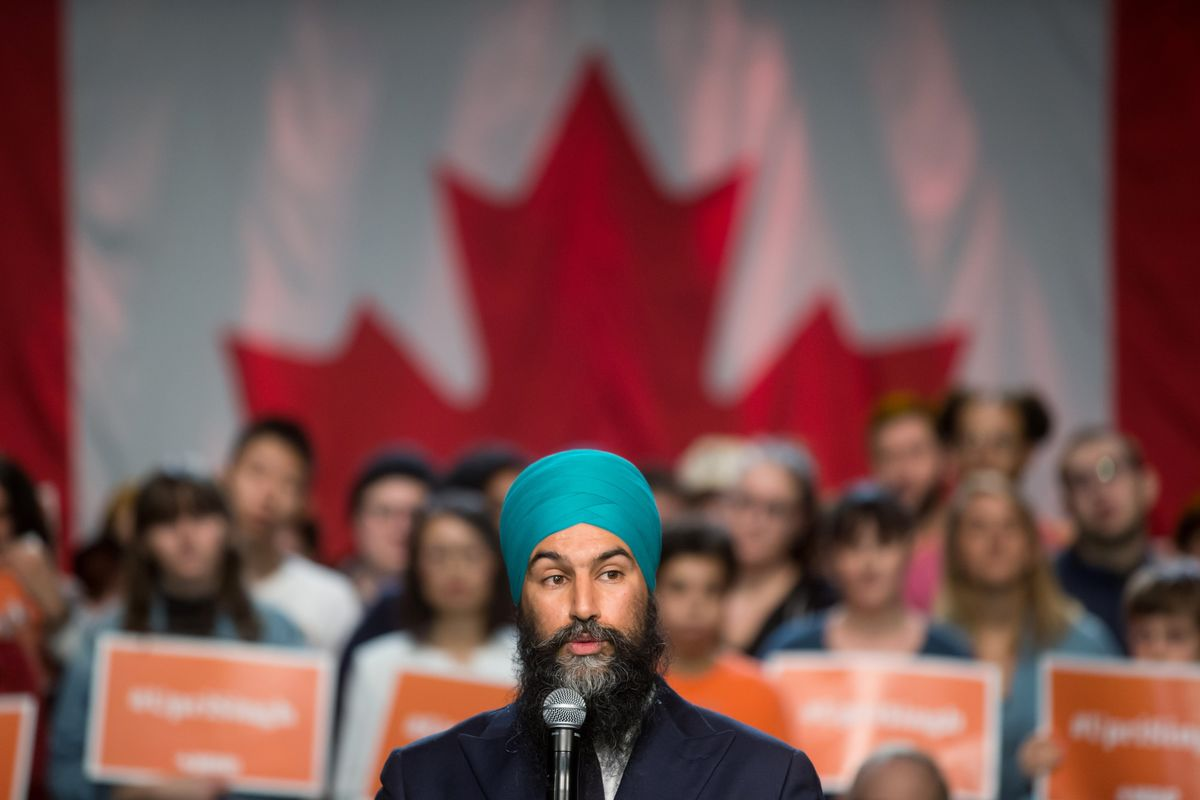 Singh Confident He Can Work With Trudeau in Minority Parliament