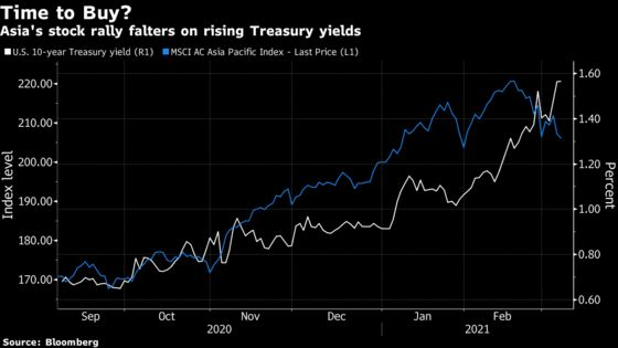 It's All About Valuation as Asia Stock Investors Buy the Dip