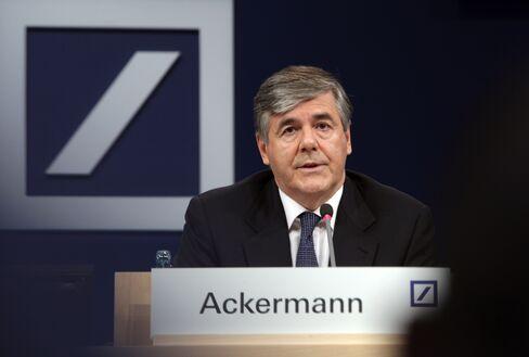 Deutsche Bank AG Chief Executive Officer Josef Ackermann