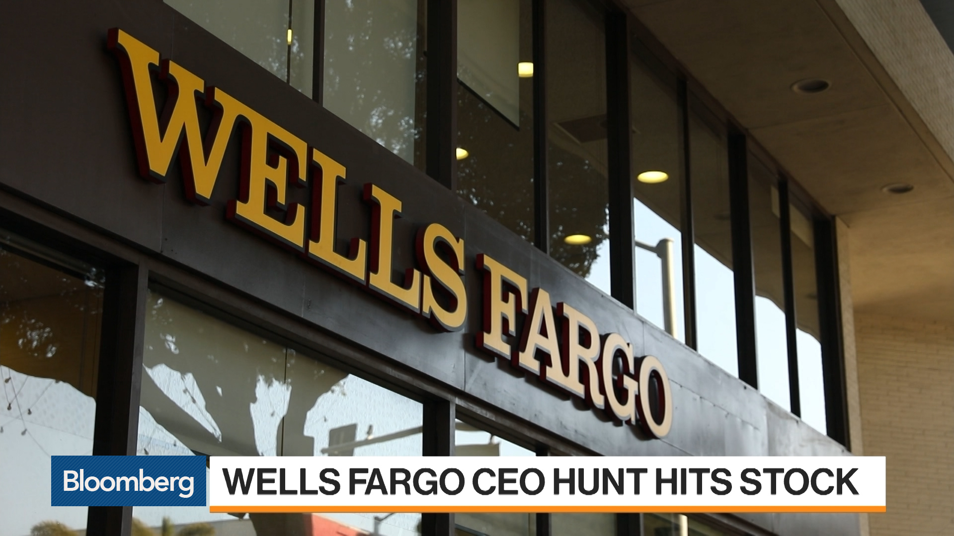 Wells Fargo CEO Search Takes Toll on Shares - Bloomberg