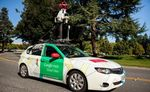 A Google Street View car equipped with Aclima air quality sensors, photographed in Denver in 2014.
