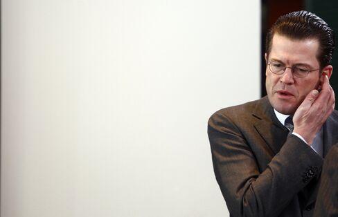 German Defense Minister Karl-Theodor zu Guttenberg