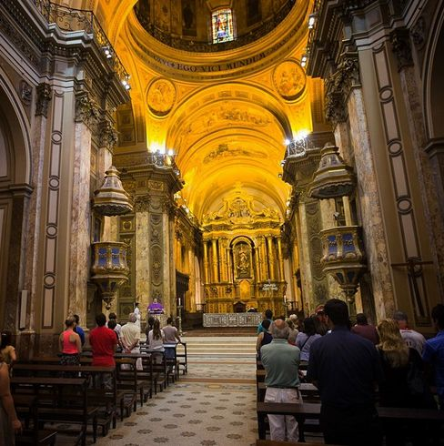 """Christmas Eve service in the home parish of former Cardinal Jorge Mario Bergoglio now Pope Francisco"""
