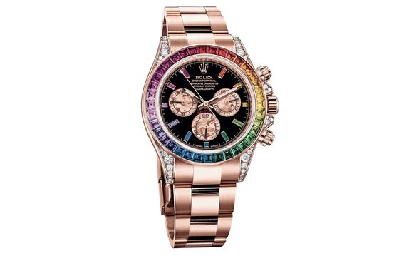 A Precious Rainbow on Your Wrist Is the Latest Flashy Trend in Watches
