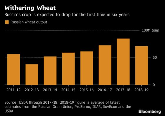 Russia's Bad Weather Mix Is Sinking the Country's Wheat Crop