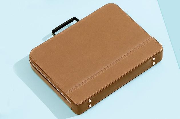 Valextra Premier Briefcase in Grained Calfskin