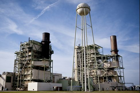 A Natural Gas Power Plant Stands in Texas