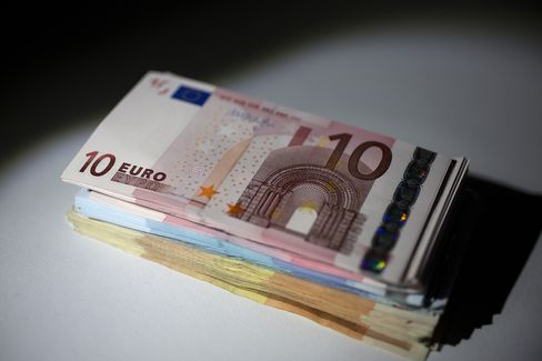 Euro Drops With Stocks as Cyprus Levy Triggers Bund