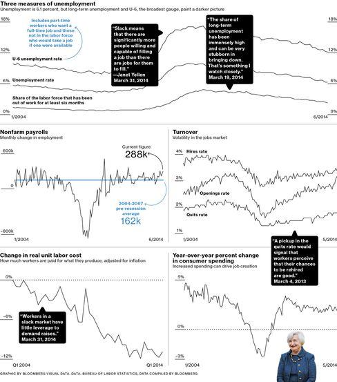 Janet Yellen's Favorite Jobs Numbers