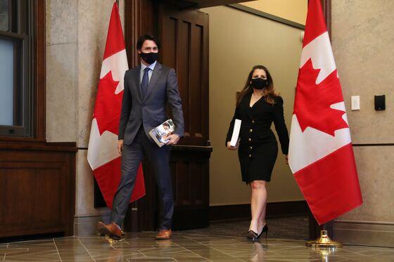 Trudeau's Deficit Spending Wins Poloz's Praise as 'Sustainable'