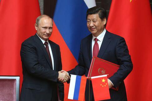 Vladimir Putin and Xi Jingping